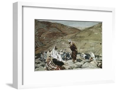 Lawyer Standing Up and Tempting Jesus-James Tissot-Framed Giclee Print