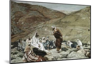 Lawyer Standing Up and Tempting Jesus-James Tissot-Mounted Giclee Print
