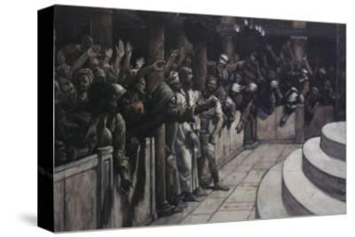 False Witness Before Caiaphas-James Tissot-Stretched Canvas Print