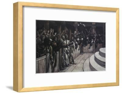 False Witness Before Caiaphas-James Tissot-Framed Giclee Print