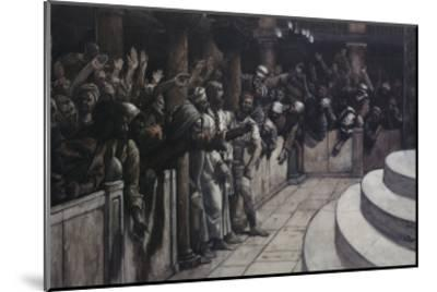 False Witness Before Caiaphas-James Tissot-Mounted Giclee Print
