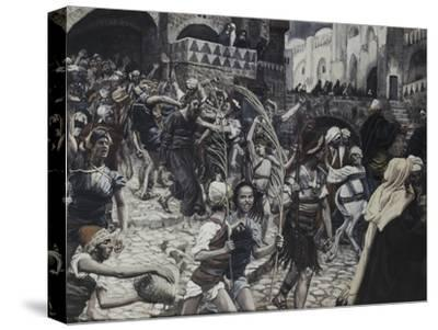 Jesus Led from Caiaphas-James Tissot-Stretched Canvas Print