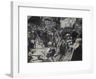 Jesus Led from Caiaphas-James Tissot-Framed Giclee Print