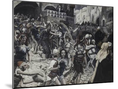 Jesus Led from Caiaphas-James Tissot-Mounted Giclee Print