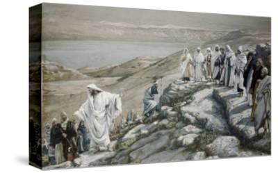 Choosing of Twelve Apostles-James Tissot-Stretched Canvas Print