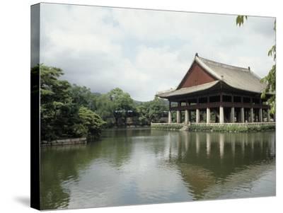 Seoul-Pavilion Kyonghoeru-Bill Bachmann-Stretched Canvas Print