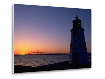 Lighthouse, Goat Island, Newport, RI-James Lemass-Metal Print