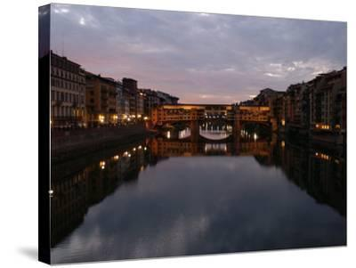 Ponte Vecchio, Florence, Italy-Keith Levit-Stretched Canvas Print