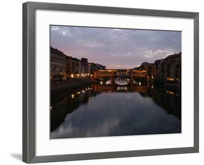 Ponte Vecchio, Florence, Italy-Keith Levit-Framed Photographic Print