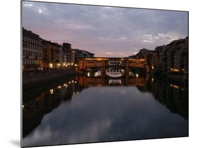Ponte Vecchio, Florence, Italy-Keith Levit-Mounted Photographic Print