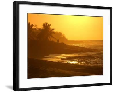 Big Island of Hawaii - Sunset from Beach-Keith Levit-Framed Photographic Print