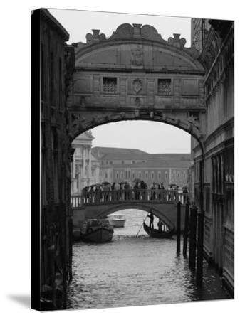 Canal with Bridge, Venice, Italy-Keith Levit-Stretched Canvas Print