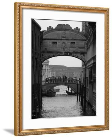 Canal with Bridge, Venice, Italy-Keith Levit-Framed Photographic Print