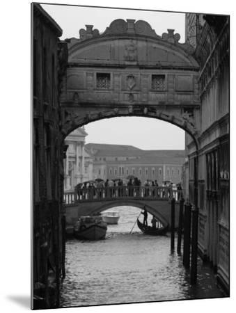 Canal with Bridge, Venice, Italy-Keith Levit-Mounted Photographic Print