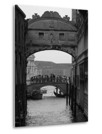 Canal with Bridge, Venice, Italy-Keith Levit-Metal Print