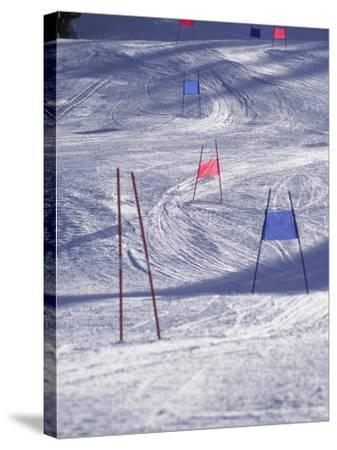 Slalom Ski Race Course-Bob Winsett-Stretched Canvas Print