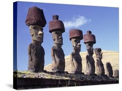 Ahu Tepito Kura, Anakena, Easter Island, Chile-Horst Von Irmer-Stretched Canvas Print