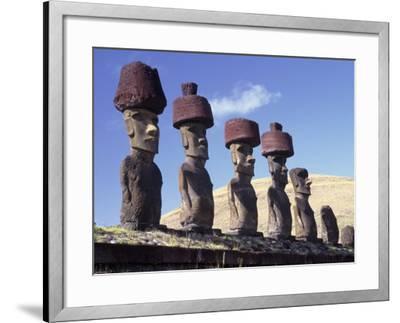 Ahu Tepito Kura, Anakena, Easter Island, Chile-Horst Von Irmer-Framed Photographic Print