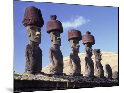 Ahu Tepito Kura, Anakena, Easter Island, Chile-Horst Von Irmer-Mounted Photographic Print