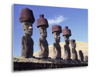 Ahu Tepito Kura, Anakena, Easter Island, Chile-Horst Von Irmer-Metal Print