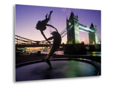 Tower Bridge, London, England, UK-Peter Adams-Metal Print