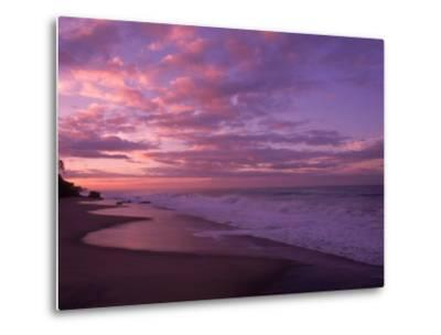 Sunset and the Ocean, CA-Mitch Diamond-Metal Print