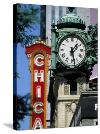 Landmarks on Two State St, Chicago, IL-Bruce Leighty-Stretched Canvas Print