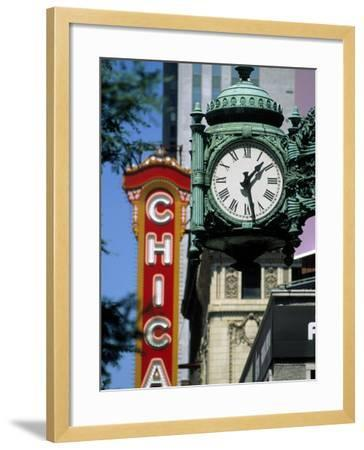 Landmarks on Two State St, Chicago, IL-Bruce Leighty-Framed Photographic Print