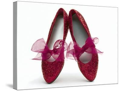Sparkling Red Shoes-Howard Sokol-Stretched Canvas Print