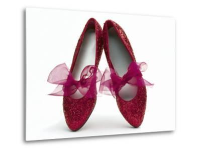 Sparkling Red Shoes-Howard Sokol-Metal Print