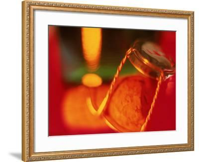 Champagne Cork and Cover-Peter Adams-Framed Photographic Print