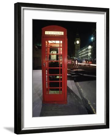 Telephone Booth, London, England-Dan Gair-Framed Photographic Print