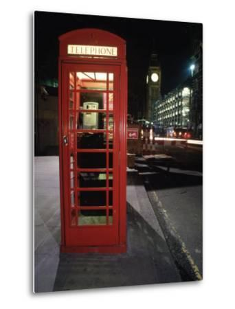 Telephone Booth, London, England-Dan Gair-Metal Print