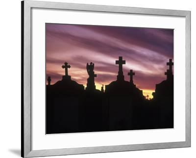 Cemetery at Sunset, New Orleans, Louisiana-Kevin Leigh-Framed Photographic Print