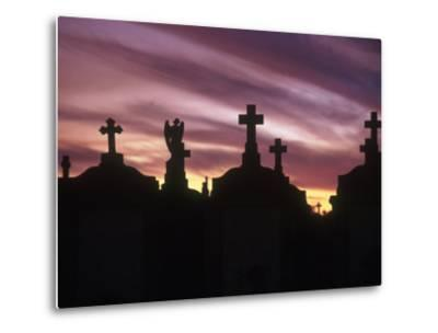 Cemetery at Sunset, New Orleans, Louisiana-Kevin Leigh-Metal Print