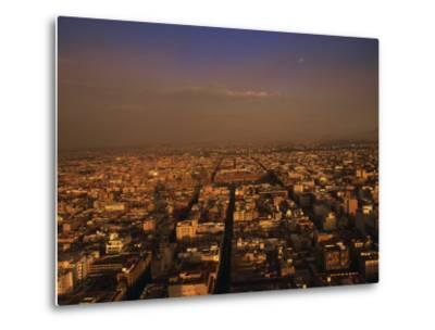Aerial View of Mexico City, Mexico-Walter Bibikow-Metal Print