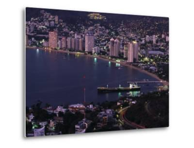 Acapulco Bay and Beach, Acapulco, Mexico-Walter Bibikow-Metal Print