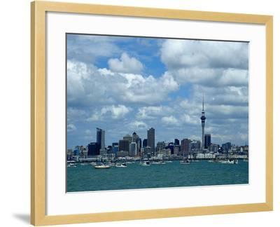 Auckland Skyline, New Zealand-Bruce Clarke-Framed Photographic Print