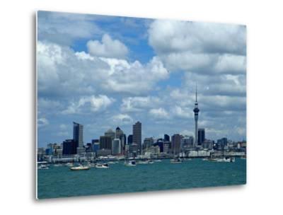 Auckland Skyline, New Zealand-Bruce Clarke-Metal Print
