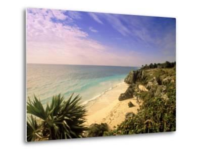 Caribbean Sea, Tulum, Yucatan, Mexico-Walter Bibikow-Metal Print