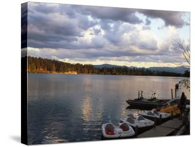 Mirror Lake, Lake Placid, Adirondacks-Rudi Von Briel-Stretched Canvas Print