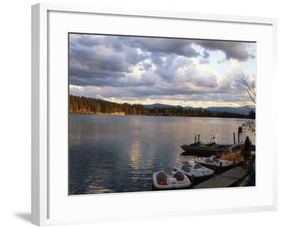 Mirror Lake, Lake Placid, Adirondacks-Rudi Von Briel-Framed Photographic Print