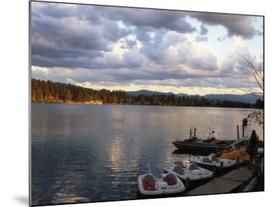 Mirror Lake, Lake Placid, Adirondacks-Rudi Von Briel-Mounted Photographic Print