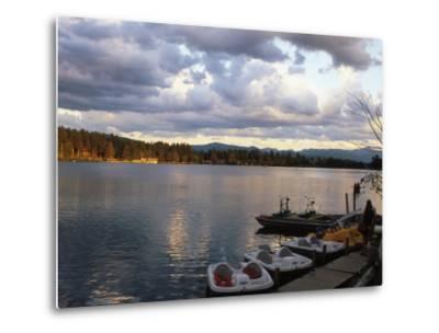 Mirror Lake, Lake Placid, Adirondacks-Rudi Von Briel-Metal Print
