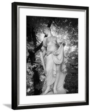 Statue at Baroque Garden, Heidenau, Germany-Simon Marsden-Framed Giclee Print