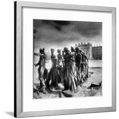 Statues Infront of the Neus Palais, Potsdam, Germany-Simon Marsden-Framed Giclee Print