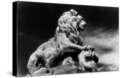 Statue of a Lion, City Gates, Arles, Provence, France-Simon Marsden-Stretched Canvas Print