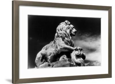 Statue of a Lion, City Gates, Arles, Provence, France-Simon Marsden-Framed Giclee Print