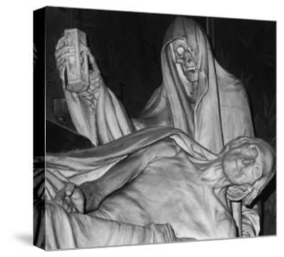 Funerary Monument, Notre Dame, Paris-Simon Marsden-Stretched Canvas Print