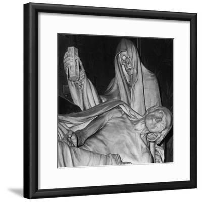 Funerary Monument, Notre Dame, Paris-Simon Marsden-Framed Giclee Print